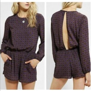 Lucca Couture Long Sleeve Open Back Romper